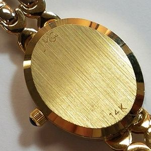 Michael Anthony Jewelry - 14K Gold Diamond Michael Anthony Watch MOP Face